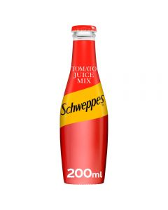 Schweppes Tomato Juice Mix in Glass Bottles 200ml x 24