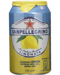 SanPellegrino Limonata Lemon Cans 24 x 330ml