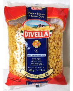 Divella Durum Wheat Chifferini Lisci 48 500g x24