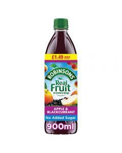 Robinsons Apple & Blackcurrant No Added Sugar PMP 12 x 900ml