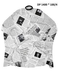 DINCER CLASSIC PATTERNED NEWS PAPER CAPE 14001004 - 140 cm X 160 cm