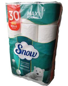 Snow softly Classic 3 plies toilet paper (30 rolls)