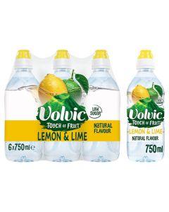 Volvic Touch of Fruit Lemon & Lime 6 x 750ml