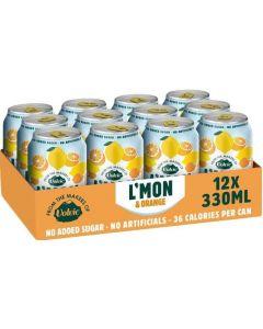 Volvic L'mon & Orange Sparkling Citrus Drink 330ml x 12