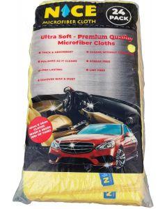 Nice Microfiber Cloths Ultra Soft- Premium Quality (24 pack)