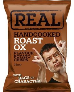 Real Crips Roast Ox Potato Hand Cooked 35g x 24