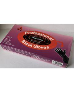 Reusable Professional Black Gloves Powder Free 20pcs - Large