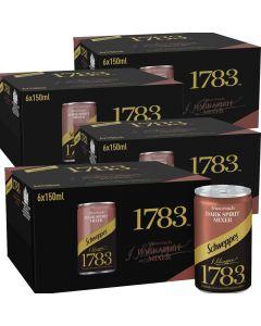 Schweppes 1783 Muscovado Dark Spirit Mixer 24 x 150ml Best Before MAY 2020