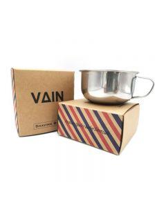 VAIN Shaving Bowl Stainless Steel Shave Cream Soap Bowl Shaving Mug  Wiith Handle
