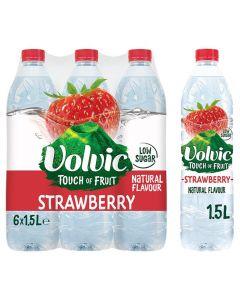 Volvic TOF Strawberry 1.5L x 6