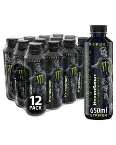 Monster HydroSport Striker 650ml x 12 Best Before  05.21