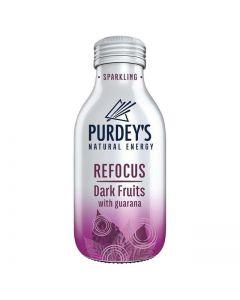 Purdey's Natural Energy Refocus Dark Fruits with Guarana 330ml x12