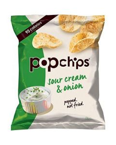 Popchips Sour Cream and Onion Popped Potato Chips 23 g (Pack of 24)
