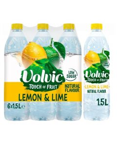 Volvic TOF Lemon & Lime 6 x 1.5L