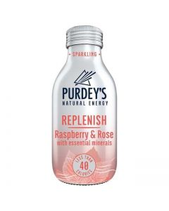 Purdey's Natural Energy Replenish Raspberry & Rose with Essential Minerals 330ml x12