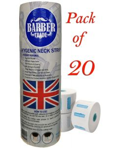 (20x500) Pack Barber Hygienic Self-Adhesive Neck Strip Stretchable Paper