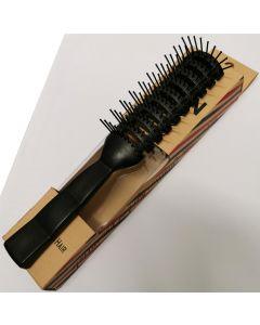 Vain Vented Detangling Comb Black Styling Hair Brush Salon Hairdressing - Large