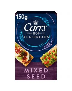 Carrs Flatbread Mixed Seed 5 x 150g Best Before 16/10/21