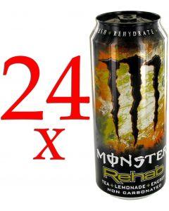 (Pack of 24) Monster Rehab Tea + Still Lemonade + Energy 500ml